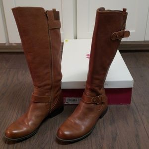 Naturalizer Jean Leather Wide Calf Riding Boot 8.5